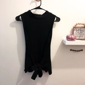 A New Day Target Black Mock Neck Tank w Front Tie